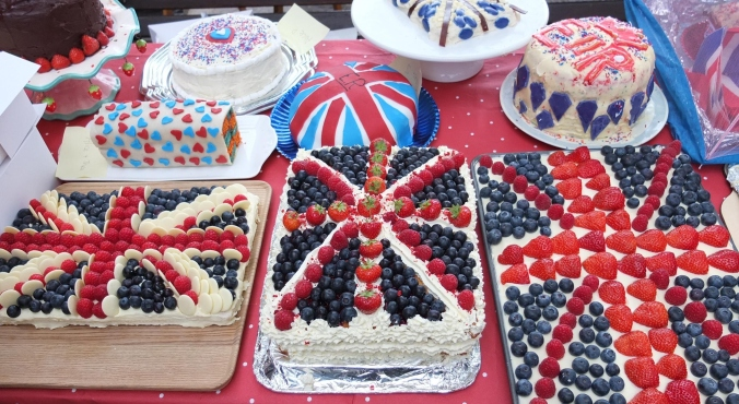 A patriotic edition of the cake episode