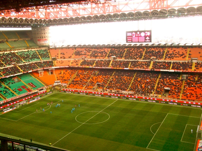 I even attended a match at the San Siro stadium in Milan. The game was pretty boring but it was a crash course in Italian swearing. Very educational indeed.
