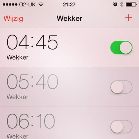 Ouch. After almost missing my train I changed it to 04h37, it's all about the nuance.