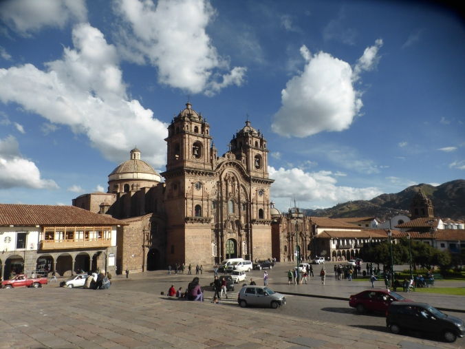 Cusco through the warped lens of our broken camera.