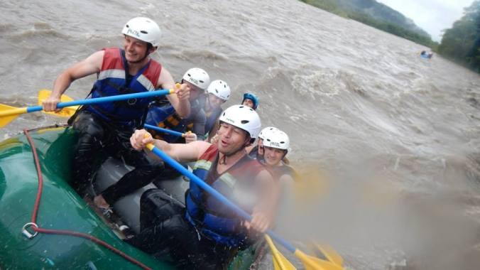 White water rafting Baños