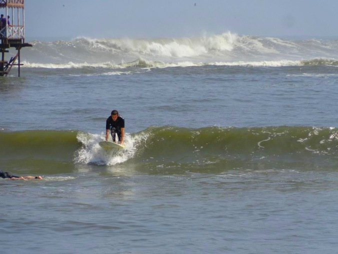 Matt about 1.2 milliseconds before he falls off into the ocean.