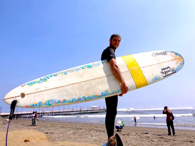 Surfing Huanchaco