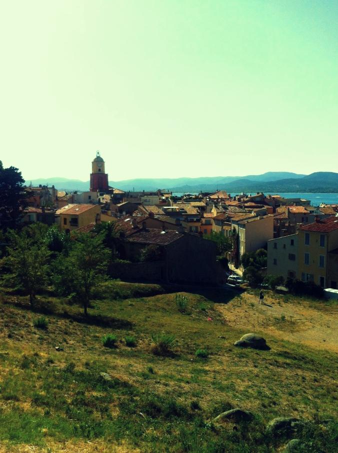 Saint-Tropez from a distance.