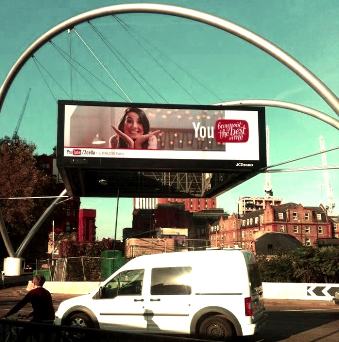 Zoella on a billboard in London.
